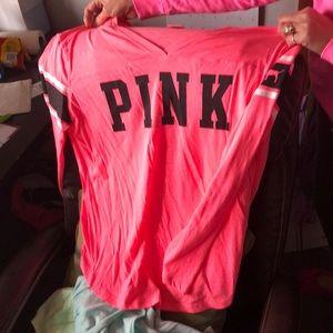Pink long sleeve tee